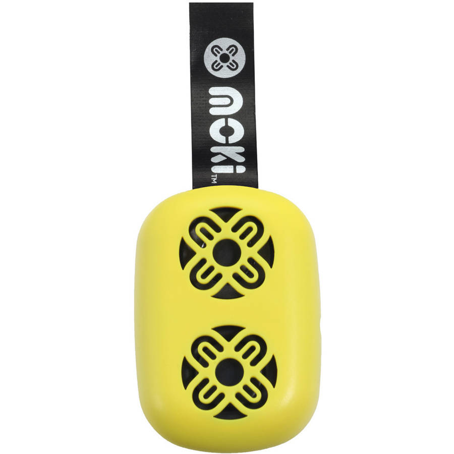 Moki BassPop ACC BPOPY Ultracompact Bluetooth Wireless Pocket Speaker, Fluro Yellow