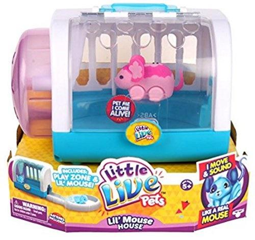 Moose Toys Little Live Pets Season 1 Lil' Mouse Cage Set, Blossom