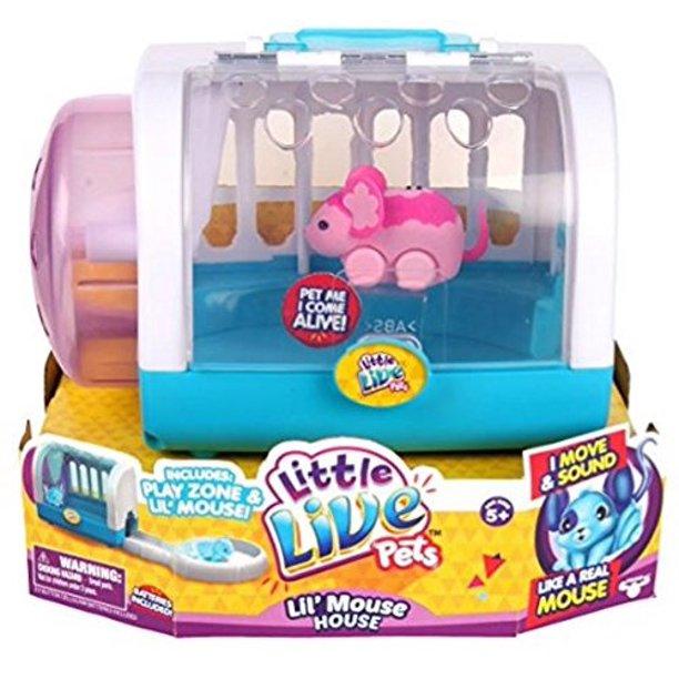 Moose Toys Little Live Pets Season 1 Lil Mouse Cage Set Blossom Walmart Com Walmart Com