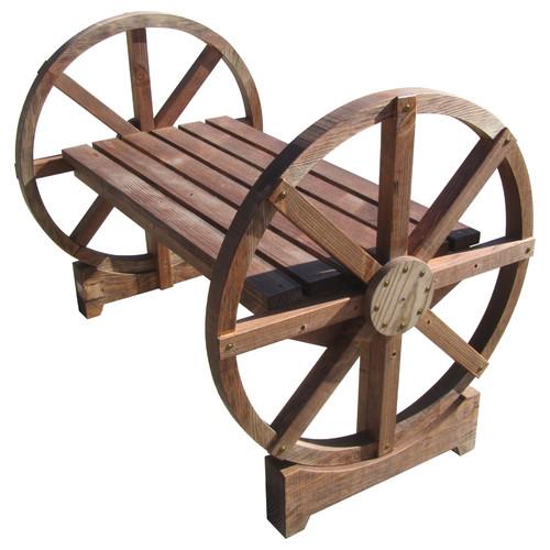 Sams Gazebos Wheel Wood Garden Bench