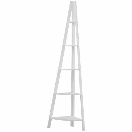 5 Tier A Shape Floor Display Ladder Shelf Corner Storage Shelf Stand Living Room thumbnail