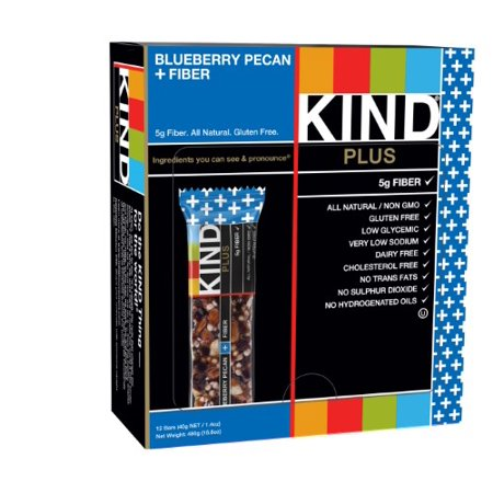 Kind Blueberry Pecan + Fiber Bar, 12 count, 1.4 oz