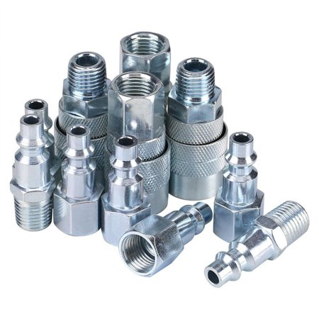 Anauto 30pcs/set Quick Coupler Plug Set Industrial Stainless Steel Air Hose Connector With Male Female Fittings 1/4 NPT