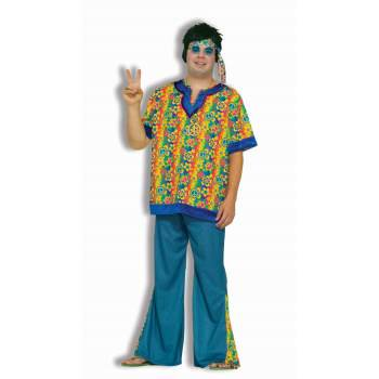 Hippie Dude Men's Plus Size Costume - Plus Size Hippie