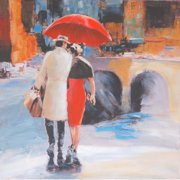 Selections by Chaumont River Walk 2 Painting Print on Canvas