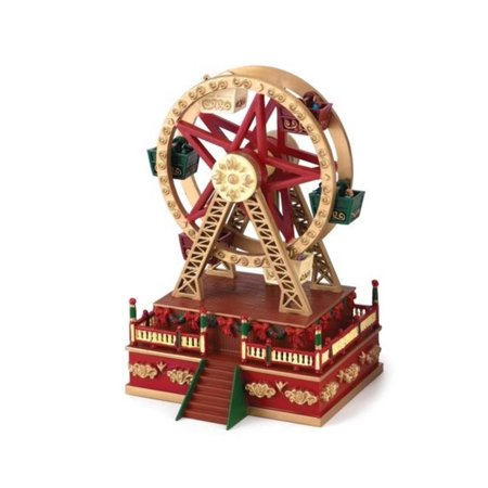 mr christmas musical carnival ferris wheel miniature holiday decoration 19705