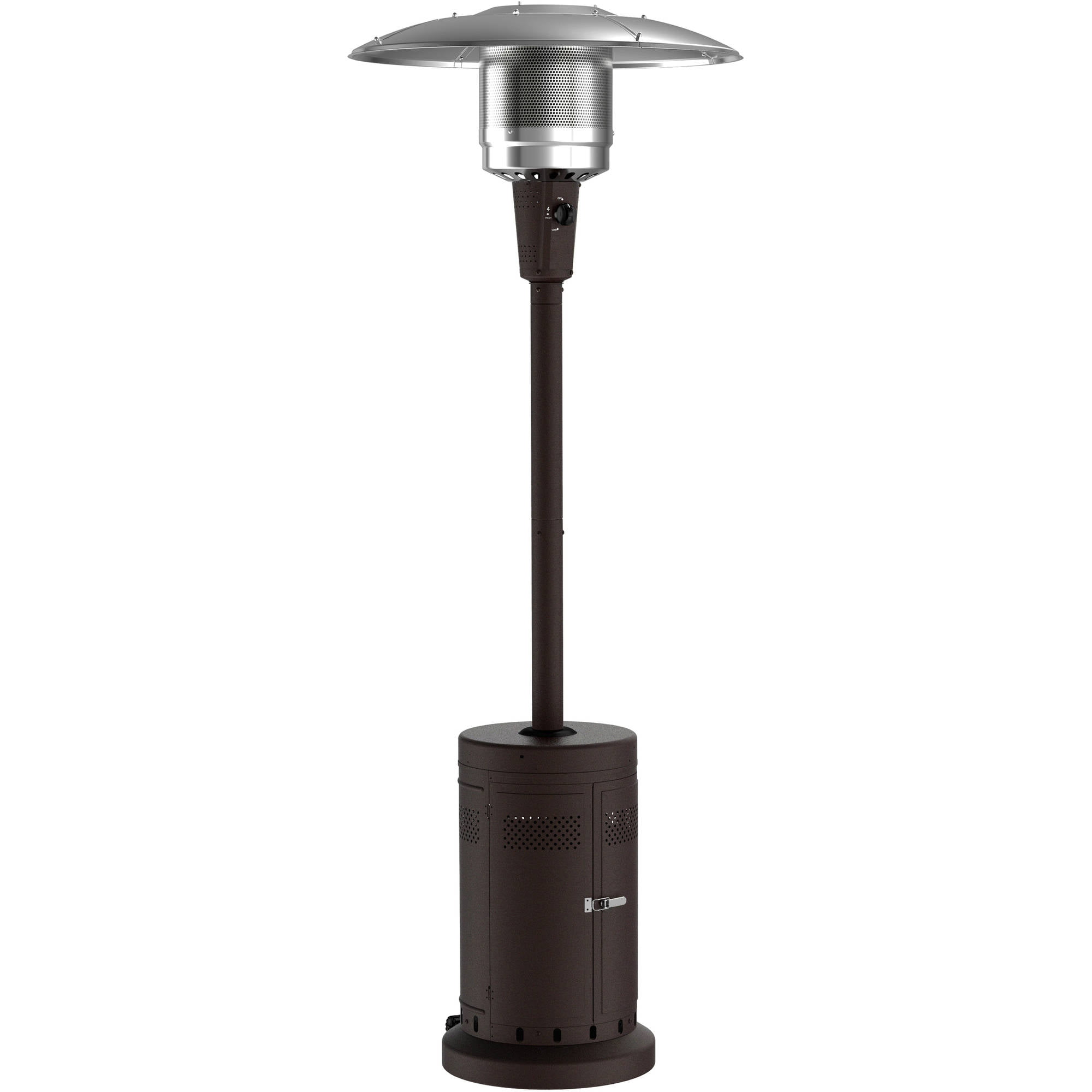 Propane Patio Heater Large Powder Coat Brown Outdoor Backyard Garden Deck  New