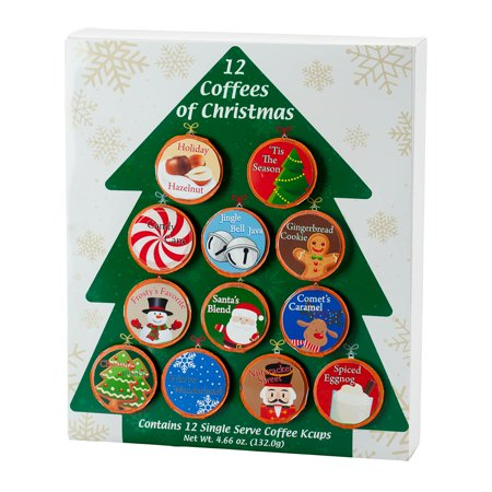 12 Coffees of Christmas Single Serve Coffee Cups Gift Pack ()