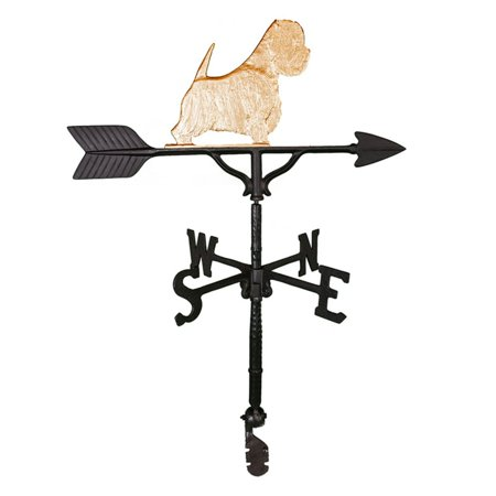 Gold West Highland White Terrier Weathervane - 32 in.