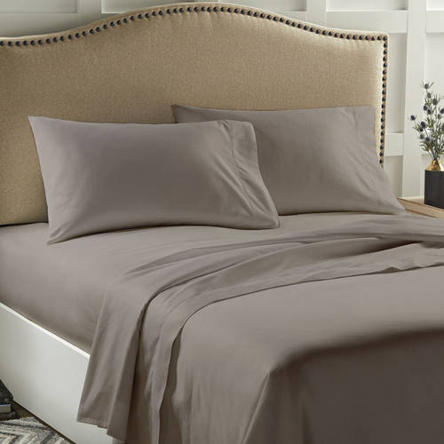 Better Homes & Gardens 400 Thread Count Solid Performance Sheet Set Pillowcases, 2 Piece