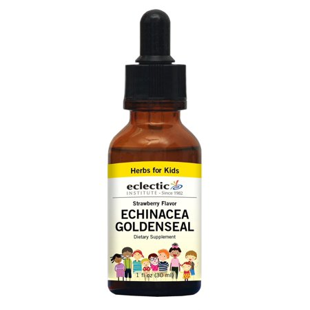 Kids Echinacea & Goldenseal - Strawberry No Alcohol Eclectic Institute 1 oz (Eclectic Institute Echinacea Goldenseal)