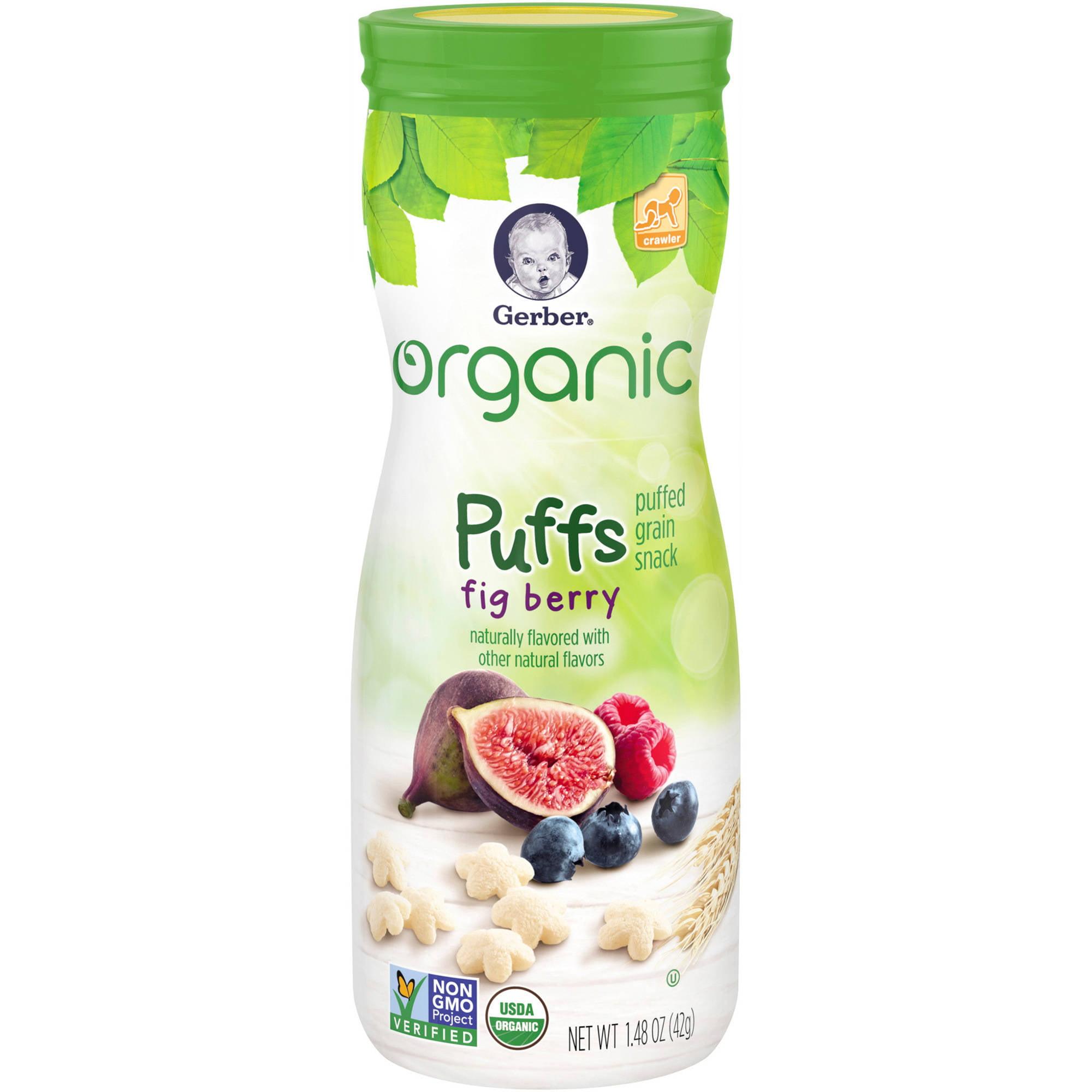 Gerber Organic Puffs Fig Berry Puffed Grain Snack, 1.48 oz by Gerber