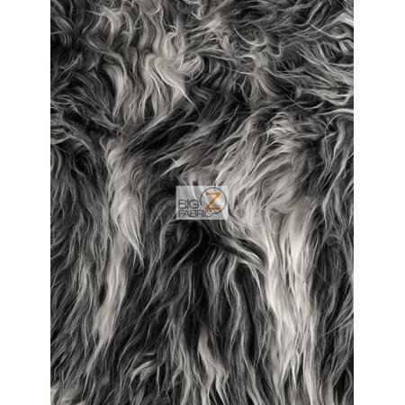 Faux Fake Fur Solid Mongolian Long Pile Fabric / Frost / Sold By The Yard