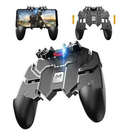 TSV Pro Gamer Mobile Gaming Controller, Six Finger Design, Shoot Sensitive Controller Gamepad Aim & Fire Trigger for PUBG EPB Fortnites