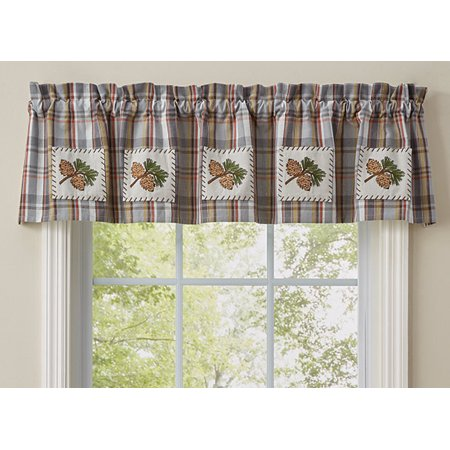 Back Country Pinecone Valance