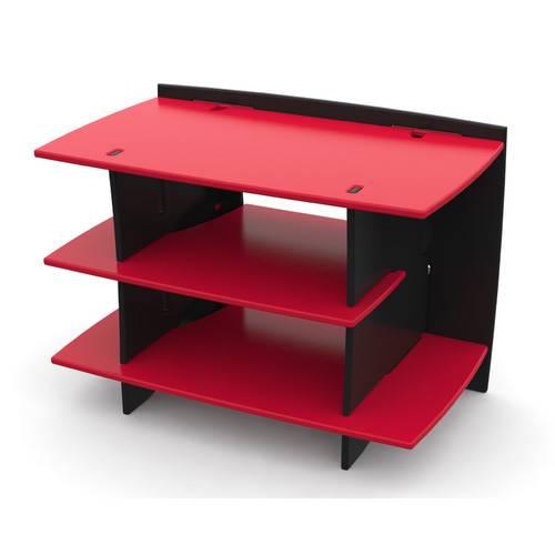 Legar? Kids Furniture Race Car Series Collection, No Tools Assembly Gaming Center Stand, Red and Black