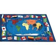 Joy Carpets Flags of the World Kids Area Rug
