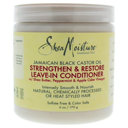 SheaMoisture Jamaican Black Castor Oil Strengthen and Restore Leave-In Conditioner - 6 oz