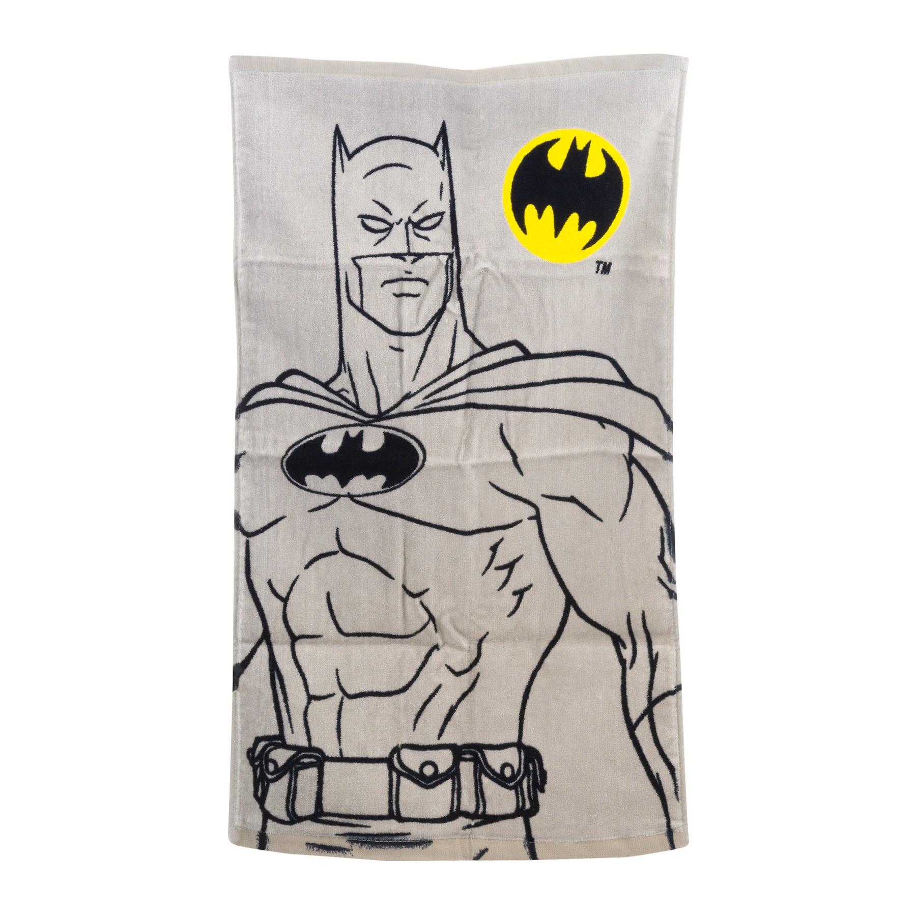 "DC Comics Batman ""Batman Logo"" 100% Cotton 15"" x 26"" Hand Towel, 1 Each"