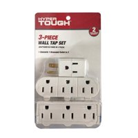 Hyper Tough 3 PC Wall Tap Value Pack White For indoor use