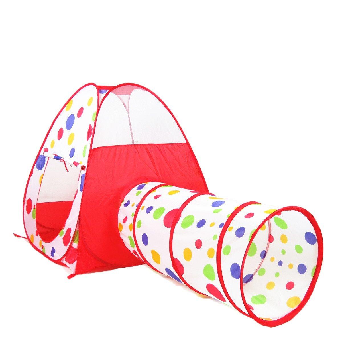 AGPtek Waterproof Dot Design Pop Up Tent Kids Children Girls Play House Princess Castle