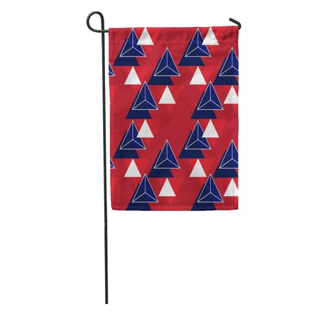 LADDKE Gender Neutral Pattern in Blue Red and White Colors Triangle Garden Flag Decorative Flag House Banner 12x18 inch - Gender Neutral Colors
