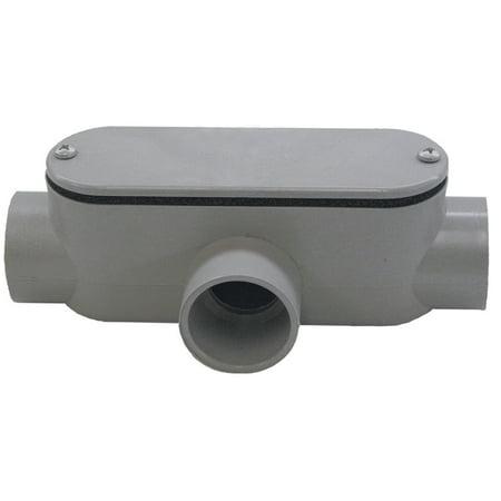 Cantexinc 5133566 Non Metallic Rectangular Rigid Conduit Body with Rem