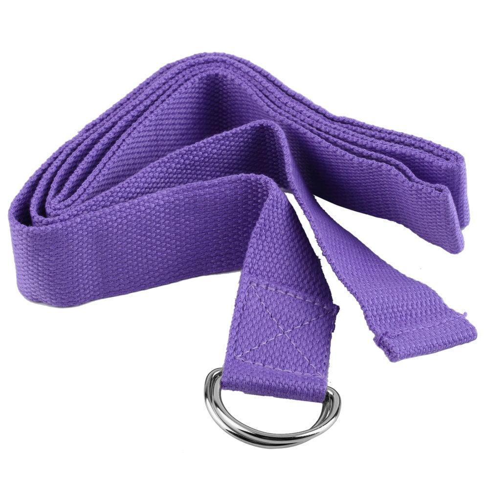 Yoga Stretch Strap D-Ring Belt Figure Waist Leg Fitness Exercise Gym