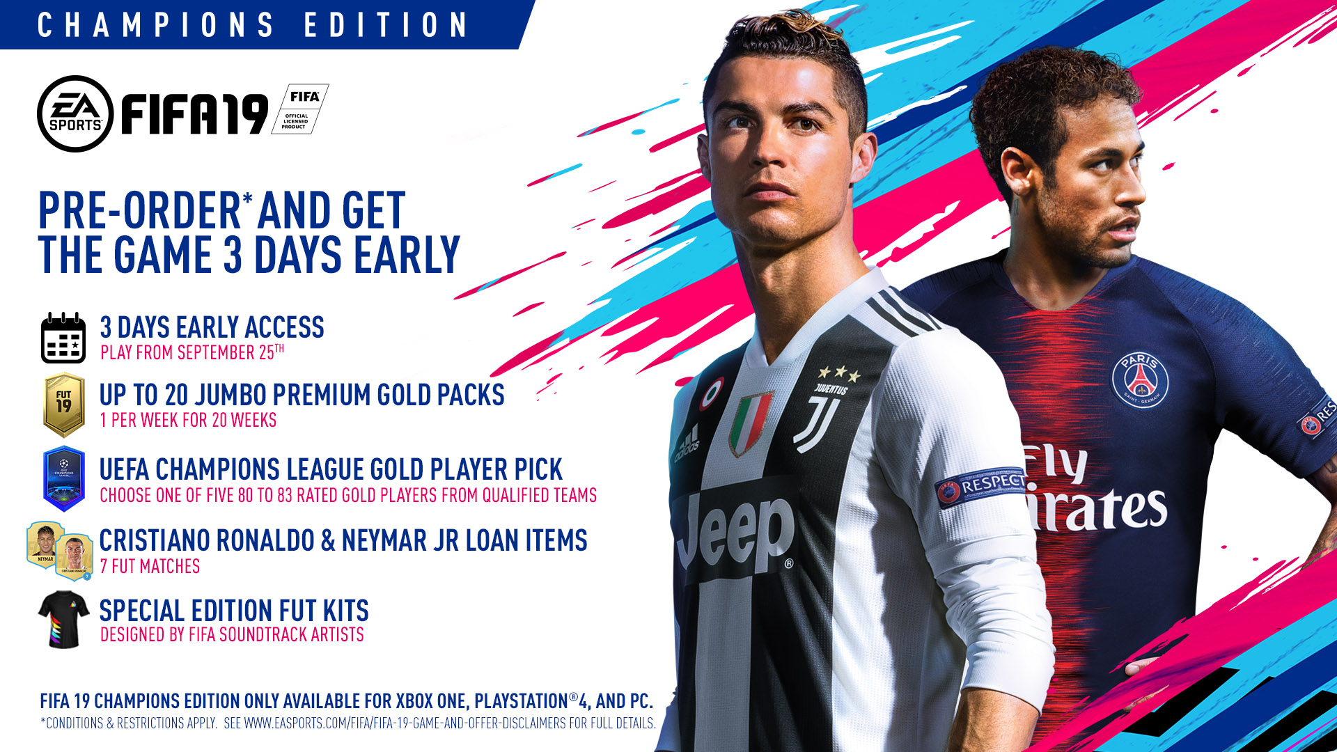 super popular 5bc32 c01c2 FIFA 19 Champions Edition, Electronic Arts, PlayStation 4, 014633373998