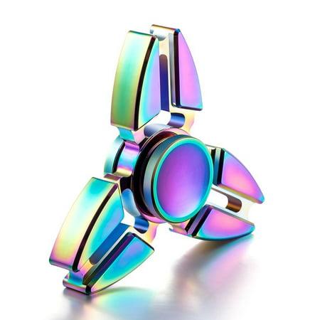 Edc Fidget Hand Spinner Alloy Finger Desk Toy Focus Adhd Autism Adult Kid Gift