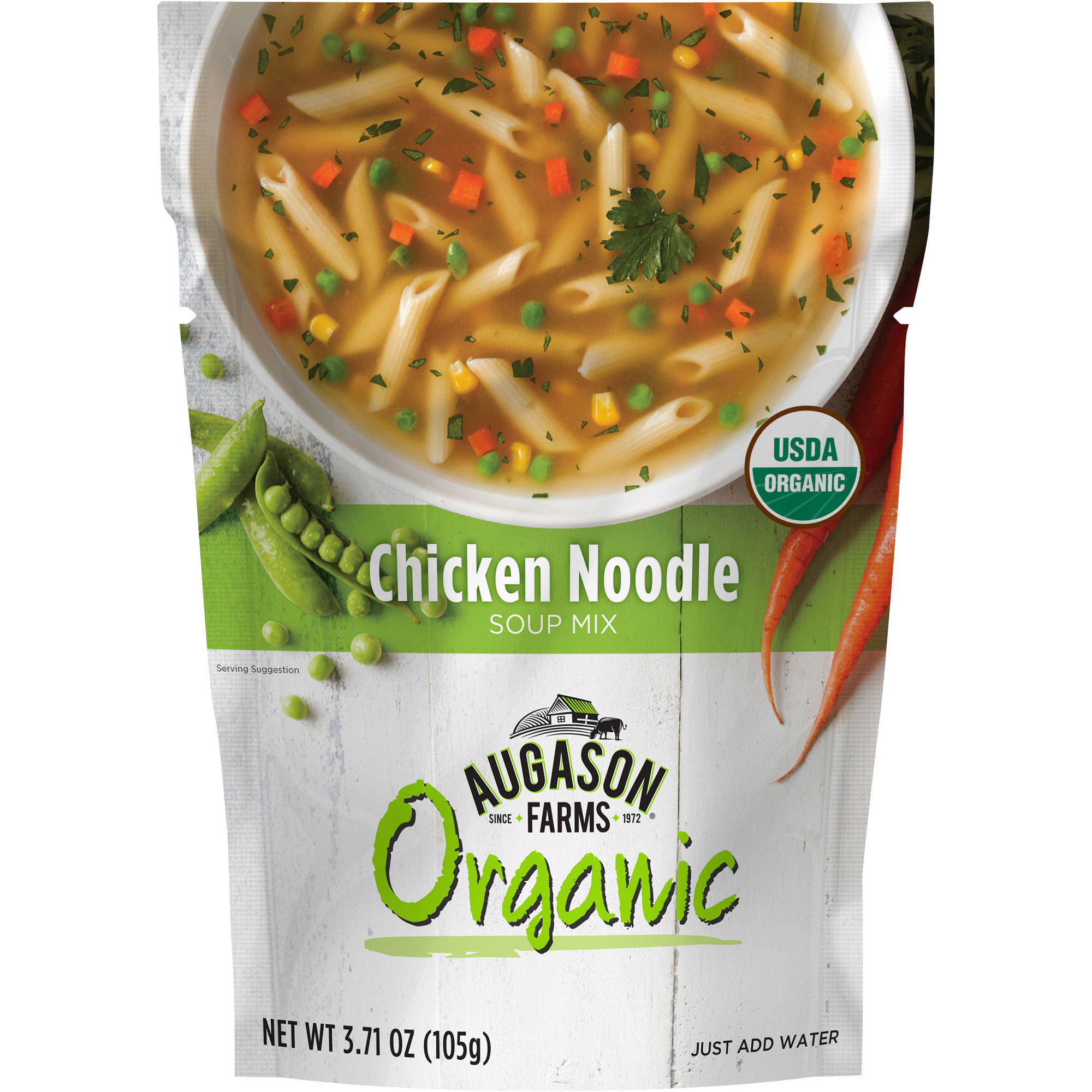 Augason Farms Organic Chicken Noodle Soup Mix, 3.71 oz by Blue Chip Group