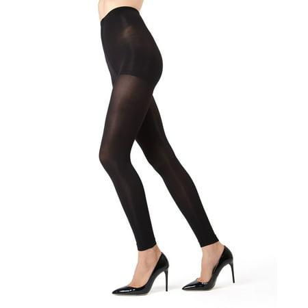 MeMoi Completely Opaque Control Top Footless Tights | MeMoi Women