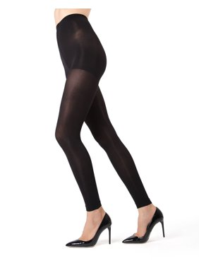 050b6e26a13ab Product Image MeMoi Completely Opaque Control Top Footless Tights | MeMoi  Women's Hosiery Large/XLarge / Black