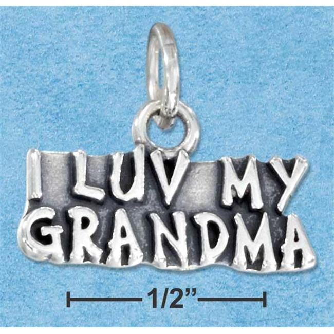 Sterling Silver Antiqued I Luv My Grandma Charm