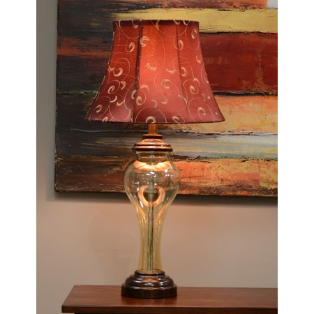 Better Homes and Gardens Amber Luster Glass Table Lamp