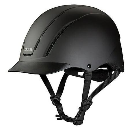 SMALL TROXEL DIALFIT LOW PROFILE SPIRIT HORSE RIDING HELMET BLACK (Troxel Helmet Size Chart)