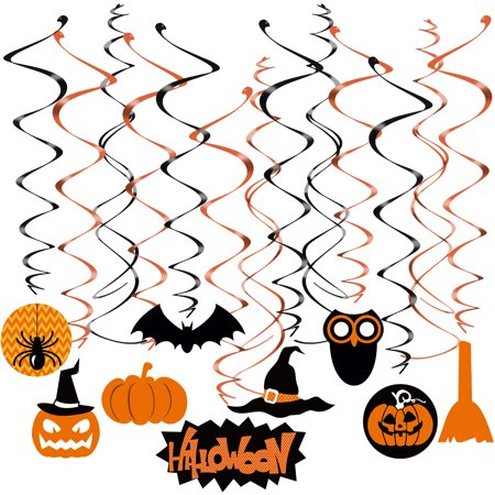 29pcs  Swirl Hanging Dizzy Dangler Foil Hanging Decoration for Halloween Party Supplies