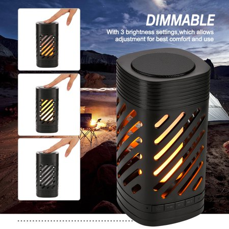 AGPtek Multi-function LED Speaker Smart Touch Camping Lamp MP3 Music Player with Flame Light for Travel&Home Party - image 5 of 7