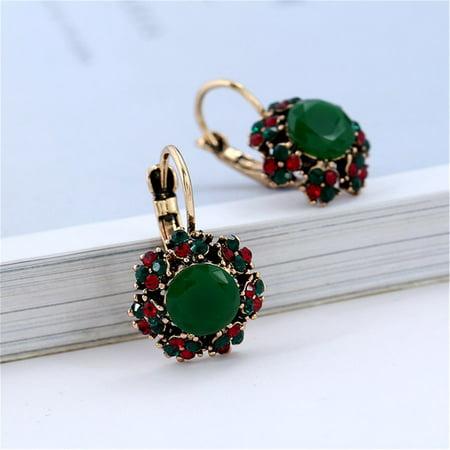 Colorful Crystal Stud Earrings Resin Dangle Earrings Personality Stud Earrings - image 5 of 5