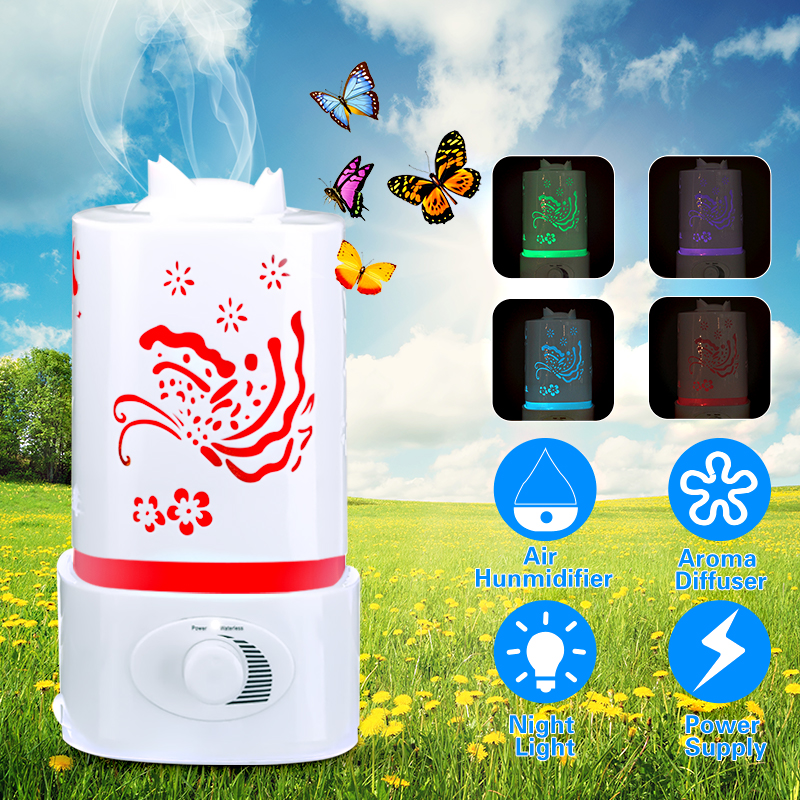 Portable Ultrasonic Home Aroma Humidifier Air Diffuser Purifier Lonizer Atomizer with Night Light