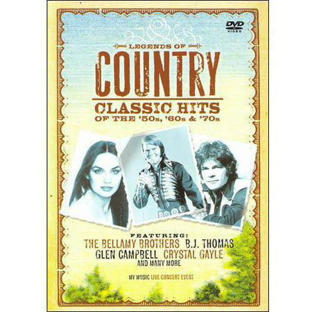 Legends Of Country: Classic Hits Of The '50's, '60's & '70's (Music DVD) (Amaray Case)