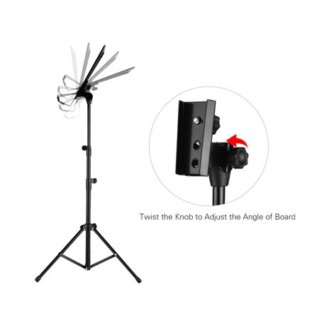 Portable Metal Music Stand Detachable Musical Instruments for Piano Violin Guitar Sheet Music Black - image 3 of 7