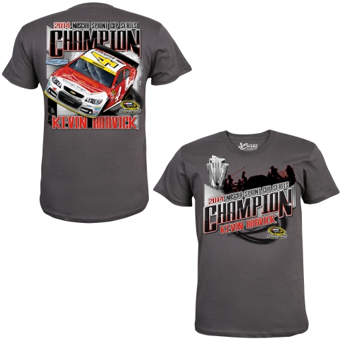 Kevin Harvick Chase Authentics 2014 NASCAR Sprint Cup Series Champion T-Shirt - Charcoal