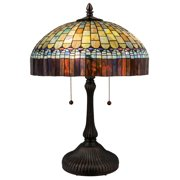 Meyda Tiffany - 26322 - Two Light Table Lamp - Tiffany Candice - Green/Blue Pbag-140pack