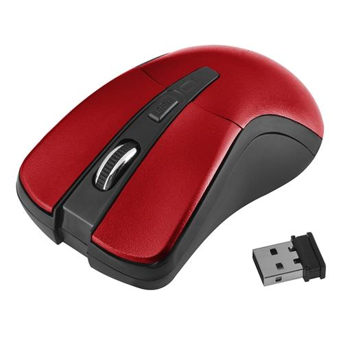 Insten Red 2.4G Cordless 4 Keys Wireless Optical Mouse For Computer Laptop Desktop PC