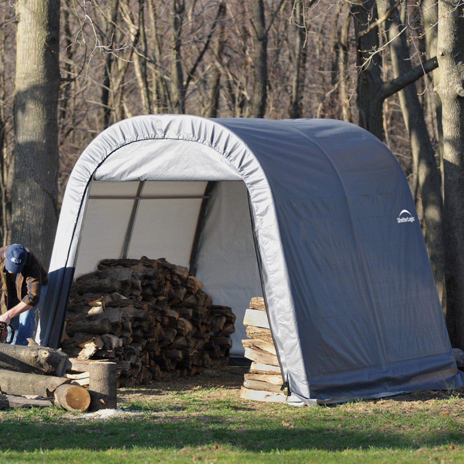 Shelterlogic 11' x 8' x 10' Round Style Shelter, Gray
