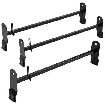 Spec-D Tuning For 2003-2017 Express Savana Van SUV Gutters Cargo Ladder Rack Carrier Cross Bar 3 PC 2004 2005 2006 2007 2008 2009 2010 2011 2012 2013 2014 2015