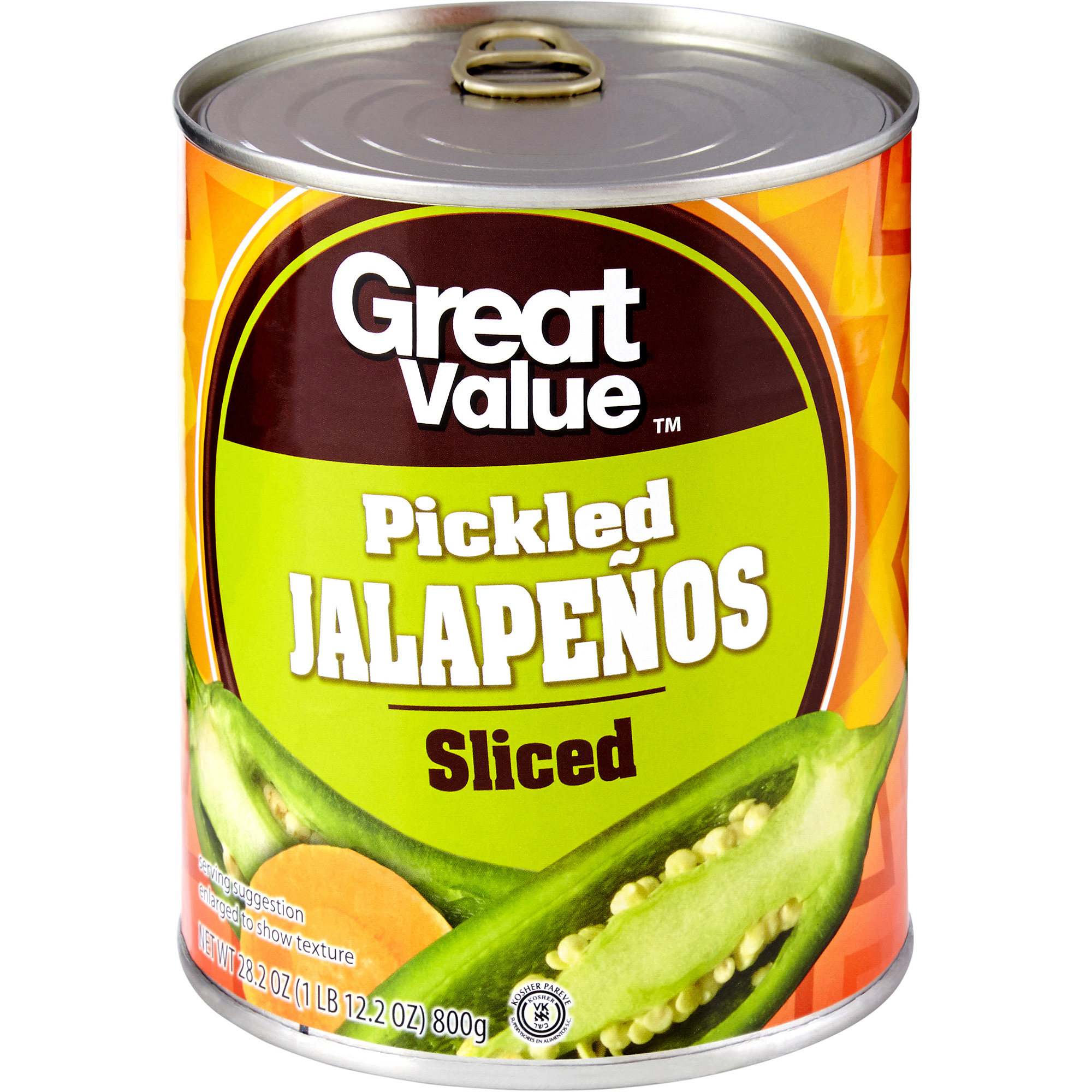 Great Value Sliced Jalapenos, 27.5 oz