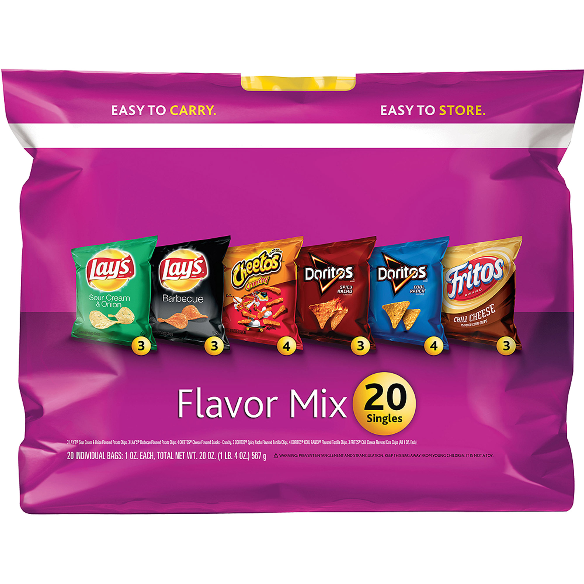 Lay's Flavor Mix Variety Pack, 1 oz, 20 count
