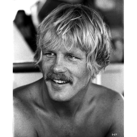 Nick Nolte shirtless with a moustache Photo Print